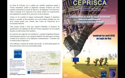PLAQUETTE DOS La transposition du droit de l'Union européenne dans la loi pénale française